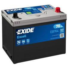 Аккумулятор EXIDE Excell 70R EB704 540A 266х172х223 (забрать сегодня)
