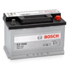 Аккумулятор BOSCH S3 008 70R 640A 278x175x190 (забрать сегодня)