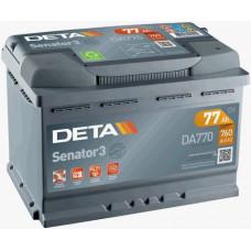 Аккумулятор автомобильный DETA DA770 77 Ач