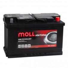 Аккумулятор MOLL AGM 70R 537