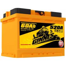 Аккумулятор автомобильный GINNES 6СТ-60.0 GY6001