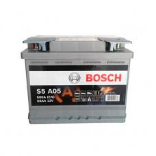 0 092 S5a 050_аккумуляторная Батарея! 19.5/17.9 Евро 60ah 680a 242/175/190 Agm Bosch