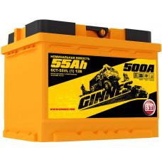 Аккумулятор автомобильный GINNES 6СТ-55.1 GY5511