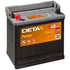 Аккумулятор автомобильный DETA DB451 45 Ач