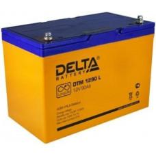 Аккумулятор Delta DTM 1290 L 12В 90Ач 306x169x216 мм Прямая (+-)