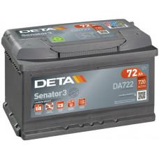 Аккумулятор автомобильный DETA DA722 72 Ач