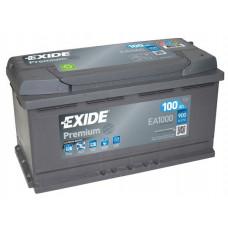 Аккумулятор EXIDE Premium 100R EA1000 900A 353х175х190 (забрать сегодня)