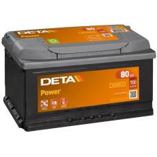 Аккумулятор автомобильный DETA DB802 80 Ач