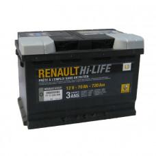 Аккумулятор RENAULT 70R 720A 278x175x190 7711238598
