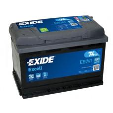 Аккумулятор EXIDE Excell 74L EB741 680A 278х175х190 (забрать сегодня)