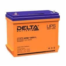 Аккумулятор Delta DTM 1255 L 12В 55Ач 239x132x210 мм Прямая (+-)
