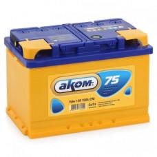 Аккумулятор АКОМ Standart 75 PR 12В 75Ач 700CCA 275x175x190 мм Обратная (-+)