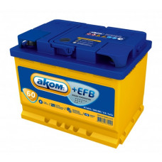 Аккумулятор АКОМ EFB 60 PL 12В 60Ач 560CCA 242x175x190 мм Прямая (+-)