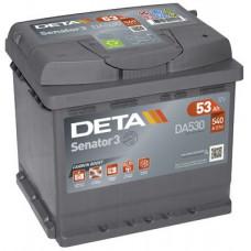 Аккумулятор автомобильный DETA DA530 53 Ач