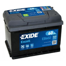 Аккумулятор EXIDE Excell 60R EB602 540A 242х175х175 (забрать сегодня)