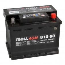 Аккумулятор MOLL AGM 60R Start-Stop 640A 242x175x190 (забрать сегодня)