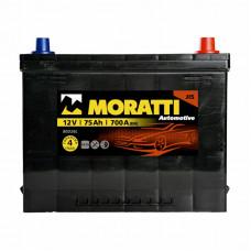 Аккумулятор Moratti JIS 75а/ч о.п.